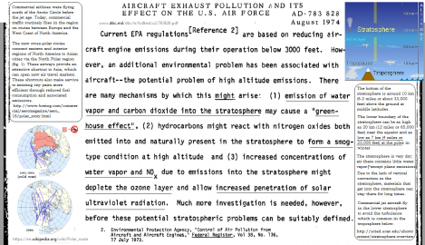 Air pollution might cause green house effect 1974 EPA USAF
