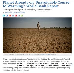 World Bank Climate Alarm