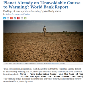 World Bank Climate Alarm