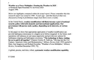Weather as a Force letter 2008 to commoditites